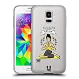 Head Case Designs Kuh Gesicht Pose Yoga Girls Soft Gel Hülle für Samsung Galaxy S5 Mini