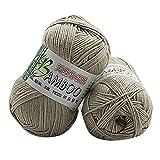 Winkey 1PC nuovo 100% maglia in cotone caldo morbido naturale di bambù uncinetto maglieria gomitolo di lana, 50g per coperte, maglione X