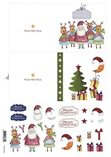 Accademia del Craft sales 32 x 45 cm, Weihnachtsmann mit ihren Rentiere Seidenpapier (Seidenpapier Mulberry)