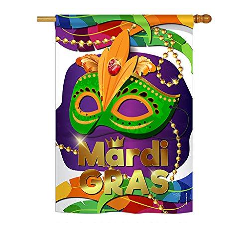 Breeze Decor MG-H-118011-IP Mardi Gras Maske, 71,1 x 101,6 cm, Mehrfarbig -