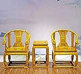 Tre pezzi set di sedie-mobili in mogano-retro sedia-combinazione tavolino