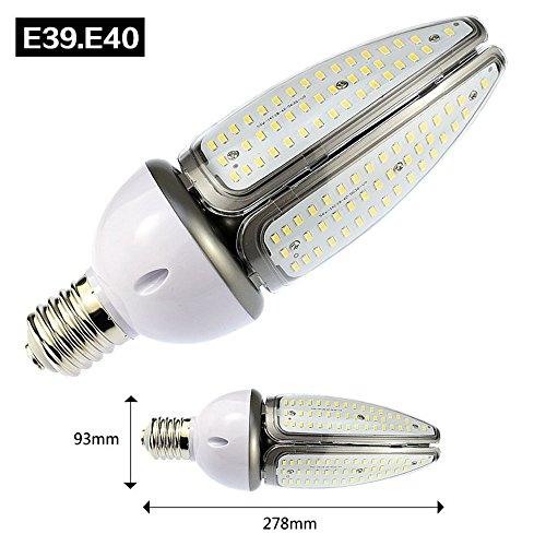 E40Corn Lampe, 50W IP65Wasserdicht Grade 168smd5730, LED Road Leuchtmittel AC90-265V, 360Grad 6000LM 3000K (Warm Weiß) - 50w Hps Lampe