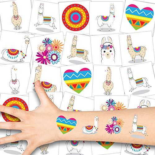German Trendseller® Lama Kinder Tattoos - Set ┃ Neu ┃ Lama Party ┃ Kindergeburtstag ┃ Mitgebsel ┃36 Tattoos
