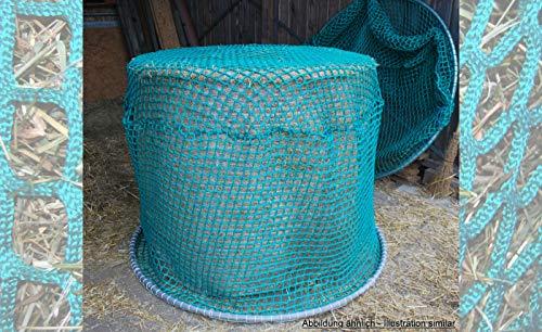 Netze Seile & mehr Heunetz für Rundballen, 160 cm Durchmesser, Höhe 120cm, Ø 5 mm Garn, 60 mm Maschenweite ohne Ring