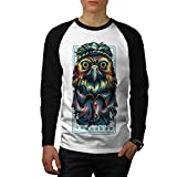 Hibou Hippie Indien Animal Homme L T-shirt à manches longues | Wellcoda