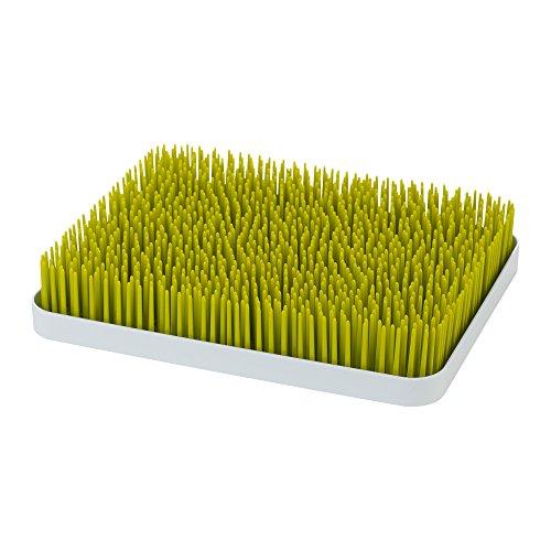 Boon Lawn - Bandeja de secado para biberones con diseño de césped, tamaño grande, color verde