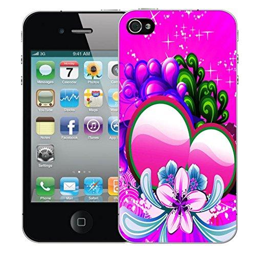 Nouveau iPhone 5 clip on Dur Coque couverture case cover Pare-chocs - rouge fire skull Motif avec Stylet pink sweetheart