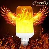 LED-Flammeneffekt-Glühlampe, E26/E27 umgedreht flackernd simulierte Feuer-Birnen-Weinlese-dekorative Beleuchtung 5W für Halloween-Haus/Hotel / Bar-Party-Dekoration 3 Modi Mit Schwerkraftsensor