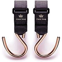 Ganchos cochecito cochecito de fijación Mighty Buggy Hook de Think King aluminio con Anti rutch revestimiento de 2unidades, Variant: Oro