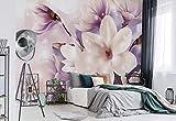 Magnolien Lila - Wallsticker Warehouse - Fototapete - Tapete - Fotomural - Mural Wandbild - (3506WM) - XXXL - 416cm x 254cm - VLIES (EasyInstall) - 4 Pieces