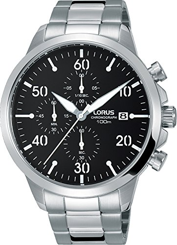 Lorus Reloj Cronógrafo para Hombre de Cuarzo con Correa en Acero Inoxidable RM343EX9