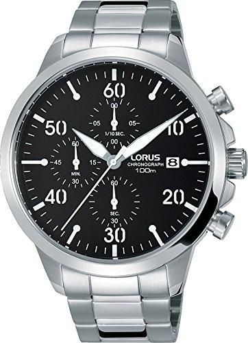 Lorus orologio cronografo quarzo uomo con cinturino in acciaio inox rm343ex9
