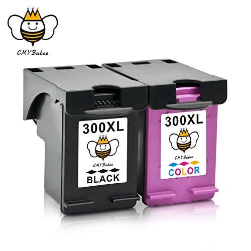 300XL 300 XL Cartuchos de Tinta CMYBabee de Reemplazo para HP Envy 100 110 120 114 Deskjet F4580 F4500 F4280 F4272 F2480 F2420 D1660 D2560 Impresoras Alto Rendimiento 2-Paquete (1 Negro, 1 Tricolor)