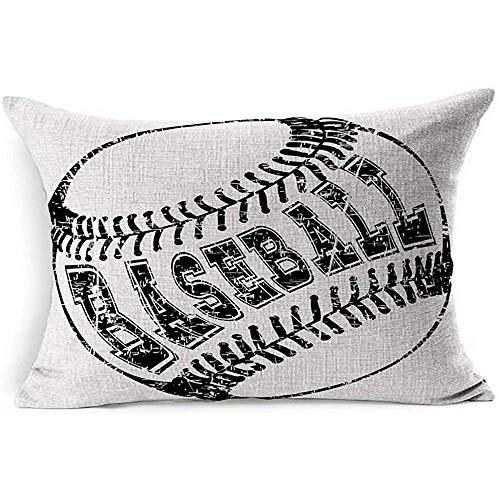 Dekokissenbezug American Champion Abstract Schwarz Weiß Baseball Softball Sport Erholung Objekt Abzeichen Ball Basisausstattung Fledermaus Kissenbezug -