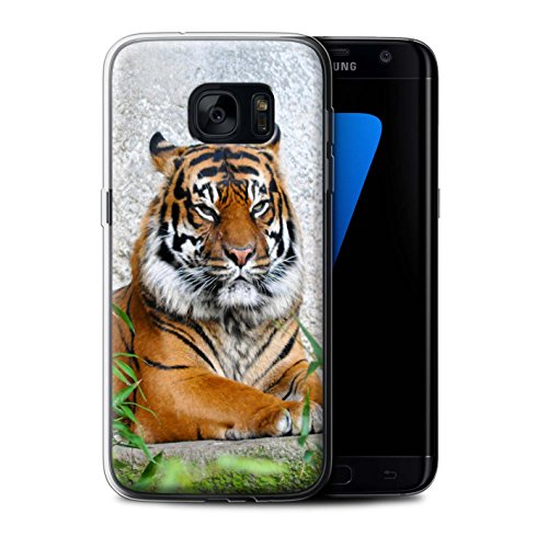 Stuff4® Gel TPU Hülle/Case für Samsung Galaxy S7 Edge/G935 / Tiger Muster/Wilde Tiere Kollektion -