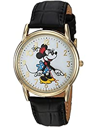 Disney Women's 'Minnie Mouse' Quartz Metal Casual Watch, Color:Black (Model: WDS000410)