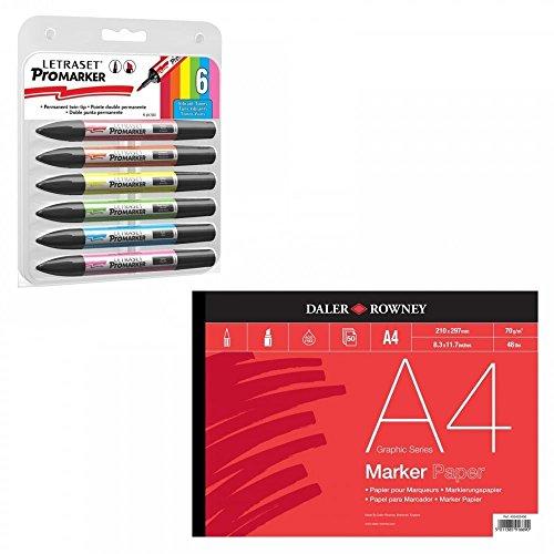 letraset-promarker-vibrant-tones-and-a4-marker-pad-set