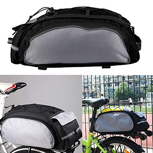 gshhd88 Gepäckträger Fahrradtasche Fahrrad Tasche, Fahrrad Fahrradtasche Wasserfest Fahrrad Hinten Sitz Tasche Tragbar Cycle Rack Koffer Gepäcktasche Tragen Gepäck Paket - grau, Free Size -