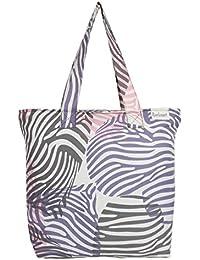 Anekaant Zebra Women Canvas Tote Bag