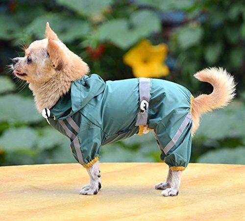 Yhuisen Pet Products - Botón impermeable con bolsillo y cintura ajustable, 3 colores, 6 tamaños
