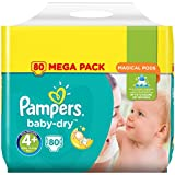 Pampers - Baby Dry - Couches Taille4+ (9-18kg/Maxi+) - Mega Pack (x80couches)