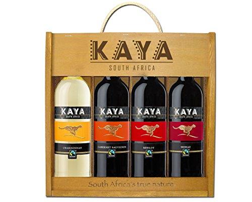 Kaya Holzkiste Fairtrade Trocken (4 x 0.75 l)