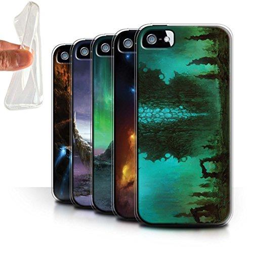 Offiziell Chris Cold Hülle / Gel TPU Case für Apple iPhone 5/5S / Pack 12pcs Muster / Fremden Welt Kosmos Kollektion Pack 12pcs
