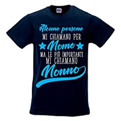 Idea Regalo - T Shirt Uomo Idea Regalo Festa Nonni Le Persone più Importanti Mi Chiamano Nonno Blu XL