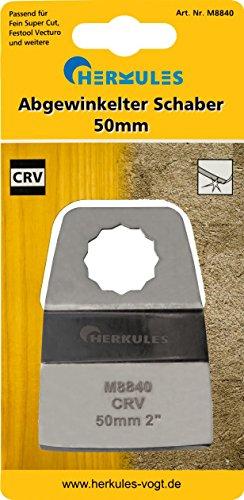 Herkules M8840 Festool Vecturo Fein Super Cut Abgewinkelter Schaber, für Multischleifer - Maße: L=72 B=50 T=1