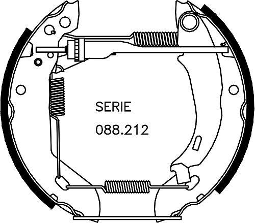 metelligroup 51-0095 Rapidkit, Kit Composto da 2 Pezzi di Ganasce Freno Premonatate, Made in Italy, Pezzo di Ricambio per Auto/Automobile, Montaggio Facile, Veloce e Sicuro
