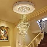 AWYL Kronleuchter - die Beleuchtung Wendeltreppe Kronleuchter - S, einfache Kronleuchter- Moderne Duplex Villa Boden große Lounge Crystal Innenbeleuchtung,4 Lichter / 40 * 100cm
