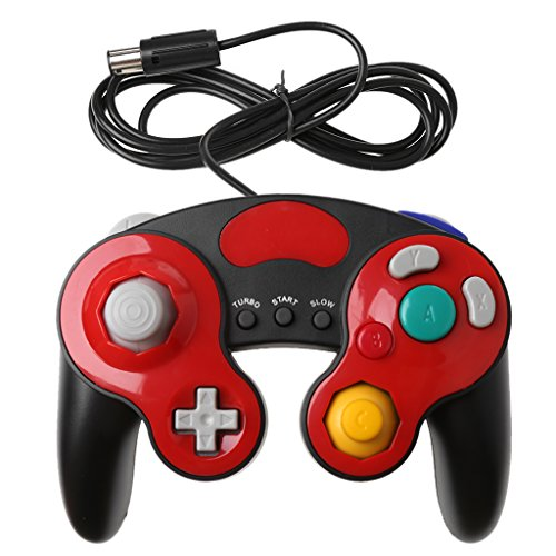 Youngy Handheld Joystick Gamepad Controller für Nintendo Gamecube Wii NGC Konsole, Rot rot (Wii Rot Konsole)