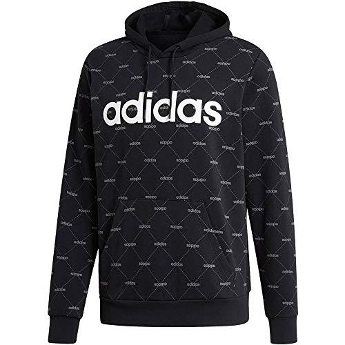adidas Performance Herren Sweatshirt Linear Graphic Hoodie schwarz (200) - Hoodie Adidas Xxl