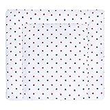 LULANDO Wickelauflage 75x75 cm Oberstoff 100% Baumwolle in tollen Designs. Passend u.a. für die Kommode IKEA Malm Farbe: Blue and Red Stars / White