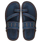 #8: UrbanwhiZ Stylish Decent Blue Dark Brown Black in Color Corporate Office Casual Slippers Sandals for Men