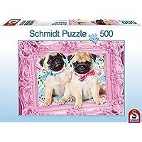 Schmidt Jigsaws Pug and Puglet (500 Pieces)