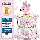 Timfanie® Windeltorte | Ziehente (2-stöckig / zart-rosa)