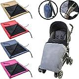 Kinderwagendecke / Winddecke (Das ganze Jahr einsetzbar) für Kinderwagen / Buggy / Babyschale (Alternative zum Fußsack) (DUNKELGRAU)