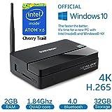 Sumvision® Cyclone Mini Micro Small Multi Media Desktop PC 2 Windows 10 Full 4K HD H.265 Smart TV Box Cherry Trail Intel Quad Core x5-Z8300 1.84Ghz 2GB Ram 32GB Bluetooth USB3.0