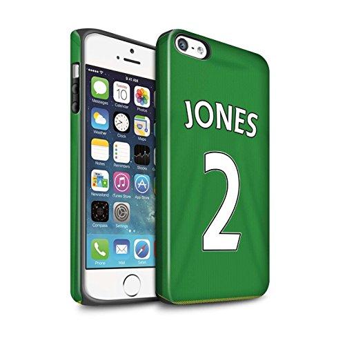 Offiziell Sunderland AFC Hülle / Matte Harten Stoßfest Case für Apple iPhone 5/5S / Defoe Muster / SAFC Trikot Away 15/16 Kollektion Jones