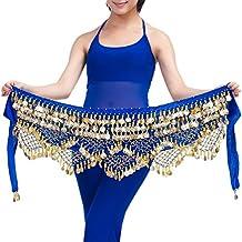 YiJee Profesional Multi-Row Lentejuelas Danza del Vientre Cinturón