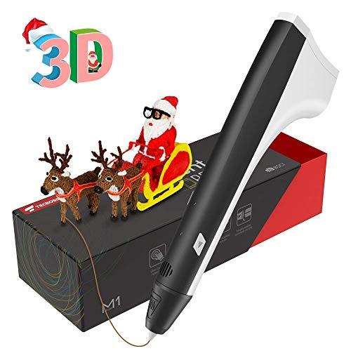 Pluma 3D, Tecboss Plumas para Impresión 3D Compatible PLA Filamentos, Velocidad Constante 3D Pen para Niños y Adultos, un Mejor Regalo de Navidad