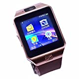 Colofan C05 luxe Bluetooth montre Smart Watch Phone montre-bracelet avec ¨¦cran tactile pour IOS Android Smartphone Iphone Samsung Smartphone (or)