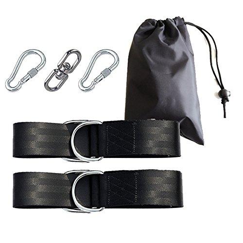 Blueprint PX Tree Swing zum Aufhängen mit Tragebeutel, gehören 2Gurte, 4D-Ringe, 2Sicherheit Lock Karabiner Haken–Jeder Strap hält 500kg, einfaches installieren–GRATIS Edelstahl drehbarer Schleife Haken für Tire Swing