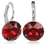 Ohrringe mit Kristallen von Swarovski® Silber Rot Damen NOBEL SCHMUCK