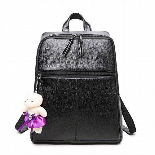 YTTY Schulter Beiläufige Weibliche Bulk-Rucksack Mode College Tasche, schwarz