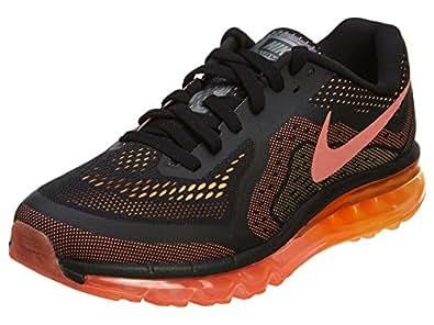 Nike Mens Air Max 2014 Running Shoes Black / Bright Mango-Peach Cream 11.5 D(M) US