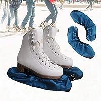 Fundas de cuchillas para patinaje sobre hielo – Protector de cuchillas para hockey, figura, patinaje de velocidad de pista corta, competición de rizos, 2 piezas, M-Youth