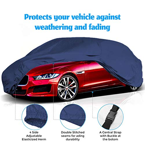 CARMATE Parachute Custom Fitting Waterproof Car Body Cover for BMW 328I - Blue