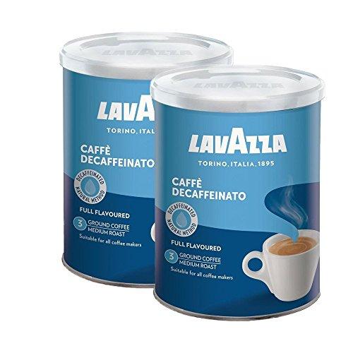 Lavazza Kaffee DEK, Decaf, Entkoffeinierter Bohnenkaffee Gemahlen, Dose, 2 x 250 g